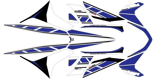 【ポイント5倍開催中!!】【クーポンが使える!】 MDF エムディーエフ ステッカー・デカール グラフィックキット カラー:ブルー NMAX