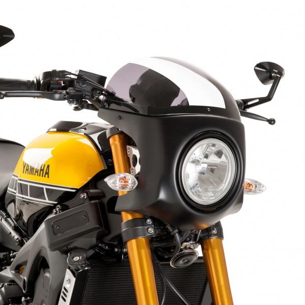 Puig プーチ スクリーン レトロ フェアリング カラー:スモーク/ブラック XSR900