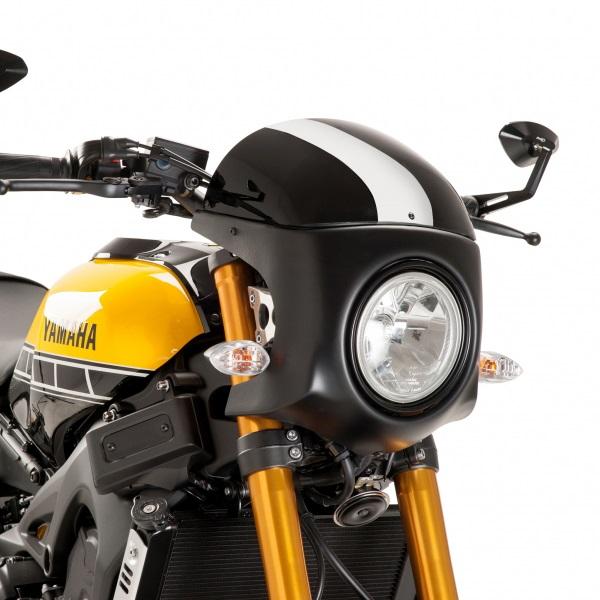 Puig プーチ スクリーン レトロ フェアリング カラー:ブラック/ブラック XSR900
