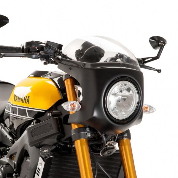 Puig プーチ スクリーン レトロ フェアリング カラー:クリア/ブラック XSR900