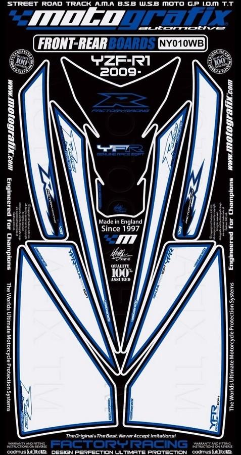 【ポイント5倍開催中!!】MOTOGRAFIX モトグラフィックス ステッカー・デカール ボディーパッド YZF-R1 (09-13)