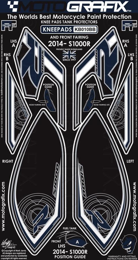 【ポイント5倍開催中!!】MOTOGRAFIX モトグラフィックス ステッカー・デカール ボディーパッド S1000R(14-)