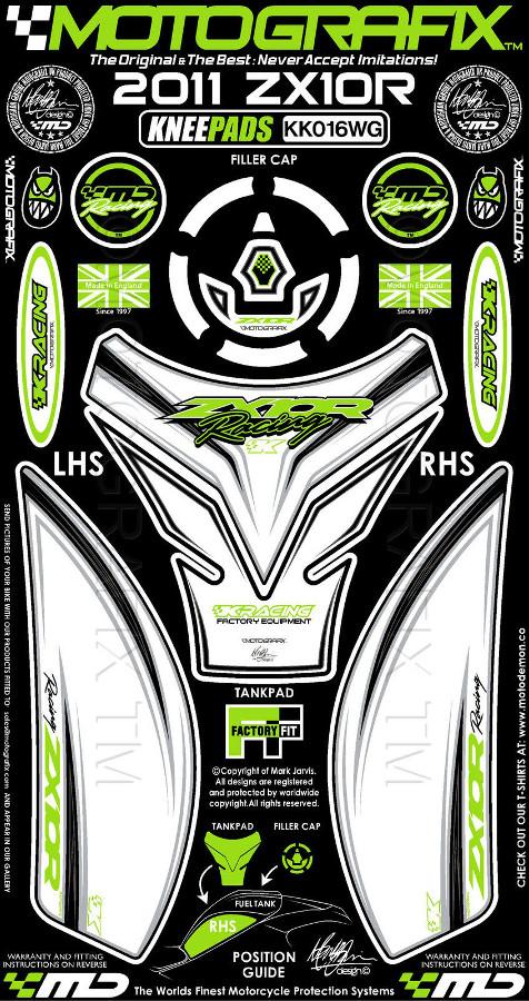 【ポイント5倍開催中!!】MOTOGRAFIX モトグラフィックス ステッカー・デカール ボディーパッド ZX-10R(11-)