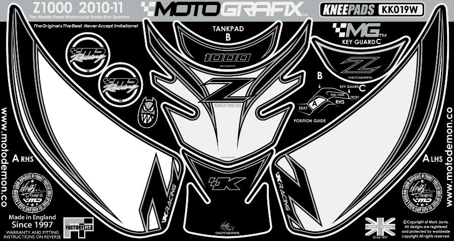 【ポイント5倍開催中!!】MOTOGRAFIX モトグラフィックス ステッカー・デカール ボディーパッド Z1000[ZRT00D](10-)