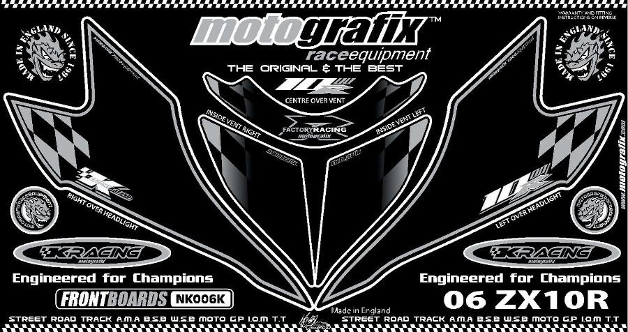 【ポイント5倍開催中!!】MOTOGRAFIX モトグラフィックス ステッカー・デカール ボディーパッド ZX-10R(06-07)
