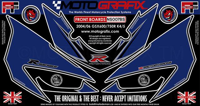 【ポイント5倍開催中!!】MOTOGRAFIX モトグラフィックス ステッカー・デカール ボディーパッド カラー:ブルー/シルバー GSX-R600(K4) GSX-R600(K5) GSX-R750(K4) GSX-R750(K5)