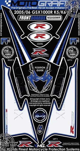 【ポイント5倍開催中!!】MOTOGRAFIX モトグラフィックス ステッカー・デカール ボディーパッド GSX-R1000(04-06)