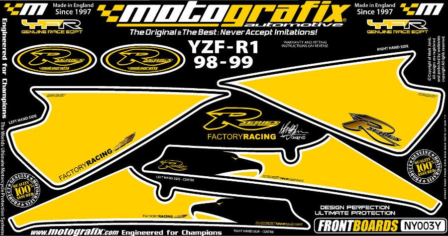 【ポイント5倍開催中!!】MOTOGRAFIX モトグラフィックス ステッカー・デカール ボディーパッド YZF-R1(98-99)