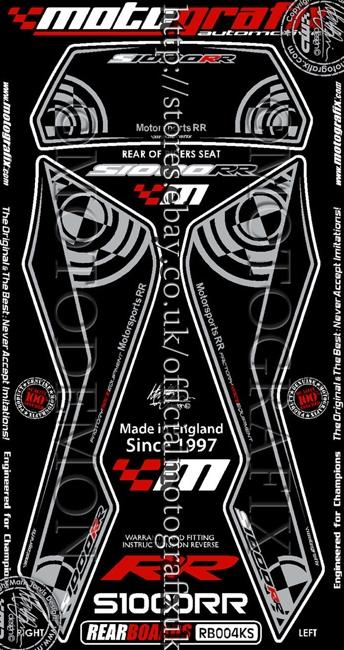 【ポイント5倍開催中!!】MOTOGRAFIX モトグラフィックス ステッカー・デカール ボディーパッド カラー:ブラック/シルバー S1000RR