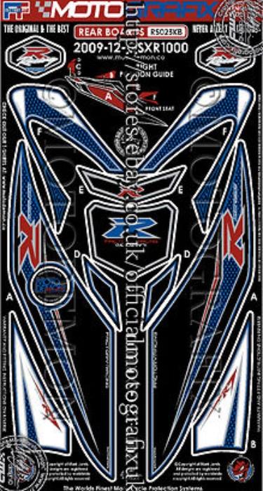 【ポイント5倍開催中!!】MOTOGRAFIX モトグラフィックス ステッカー・デカール ボディーパッド GSX-R1000(12-)