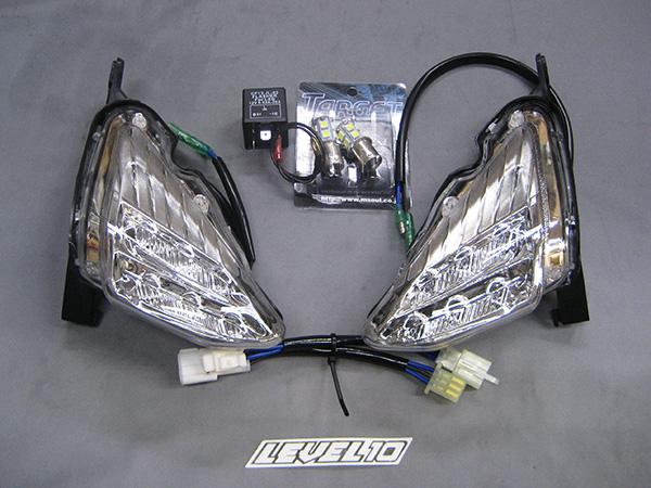 M-SOUL(ムサシ) エムソウル LEDポジション&ウインカーキット レンズカラー:クリア SMAX マジェスティS