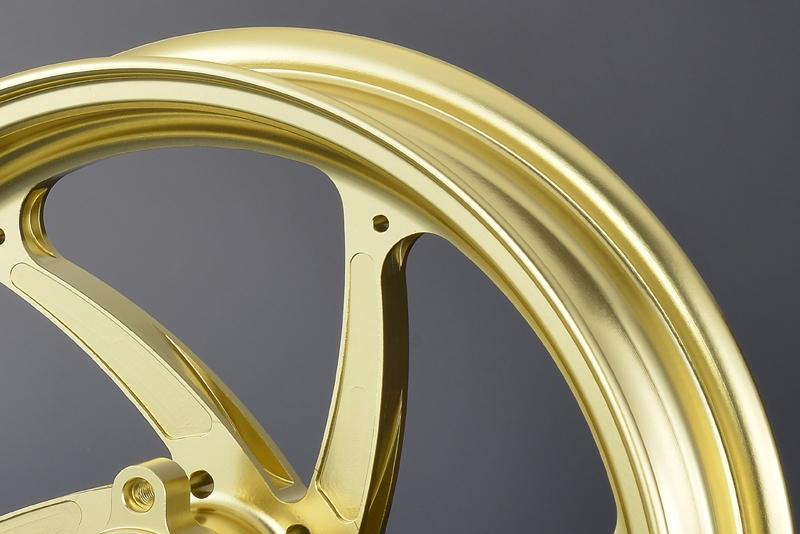 OVER オーヴァー ホイール本体 アルミ鍛造ホイール GP-SIX フロント用単体 カラー:ゴールド Z125 プロ