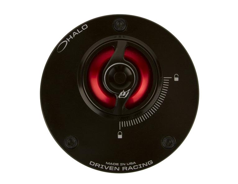 DRIVEN ドリブン タンクキャップ D-Axis HALO フュエルキャップ カラー:レッド Street Triple 675 07-09
