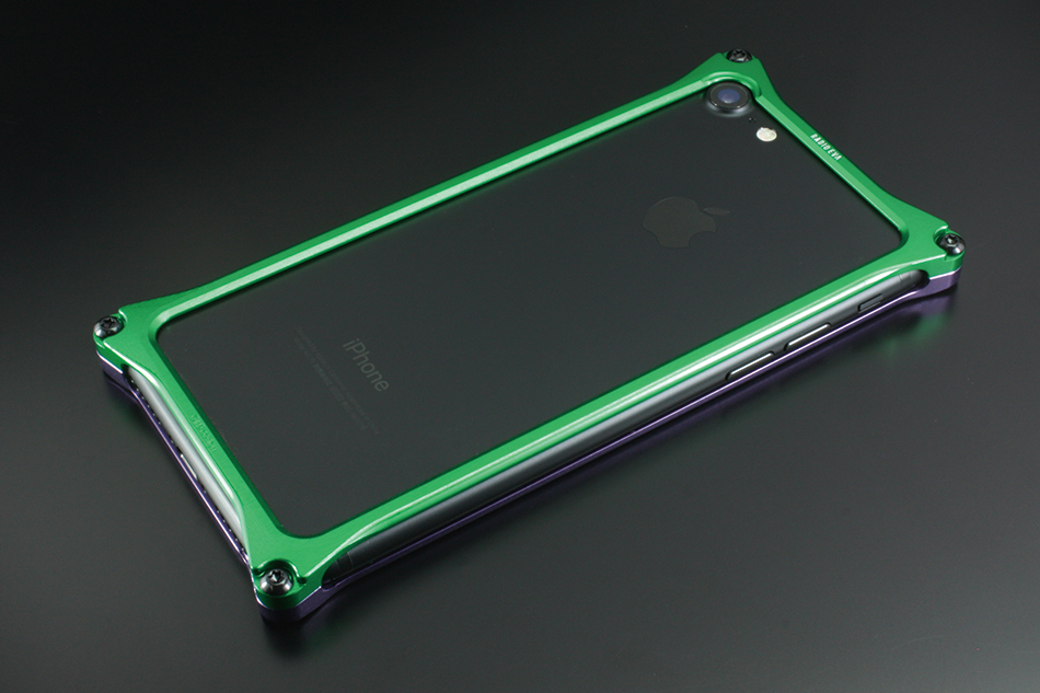 GILD design ギルドデザイン その他グッズ Solid Bumper for iPhone7 (EVANGELION Limited) タイプ:エヴァンゲリオン初号機(パープル・グリーン)