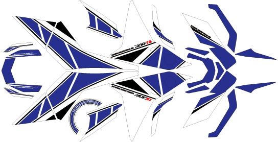【ポイント5倍開催中!!】【クーポンが使える!】 MDF エムディーエフ ステッカー・デカール 専用グラフィック コンプリートセット カラー:ブルー MT-09 トレーサー