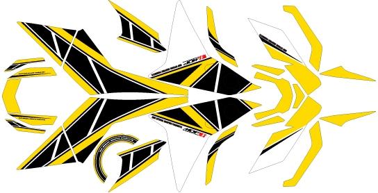 MDF エムディーエフ ステッカー・デカール 専用グラフィック コンプリートセット カラー:パンプキンイエロー MT-09 トレーサー