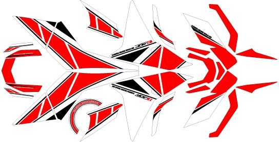 【ポイント5倍開催中!!】【クーポンが使える!】 MDF エムディーエフ ステッカー・デカール 専用グラフィック コンプリートセット カラー:レッド MT-09 トレーサー