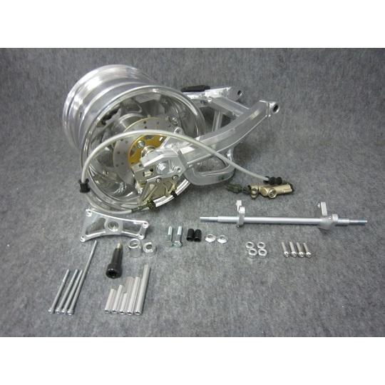 GM-MOTO ジーエムモト モンキー用10インチ 7.0Jホイール付ワイドスイングアーム コンプリートキット スイングアームタイプ:スタビ無+12cm リヤマスターシリンダーブラケット:無 モンキー