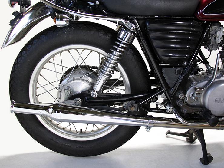 Motor Rock モーターロック 【FLAKES】(フレークス) トランペット スリップオンマフラー ダウンタイプ 仕様:FI車 SR400 SR500