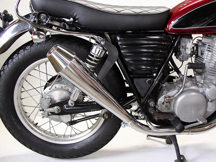 Motor Rock モーターロック 【FLAKES】(フレークス) メガホン スリップオンマフラー アップタイプ 仕様:キャブ車 SR400 SR500