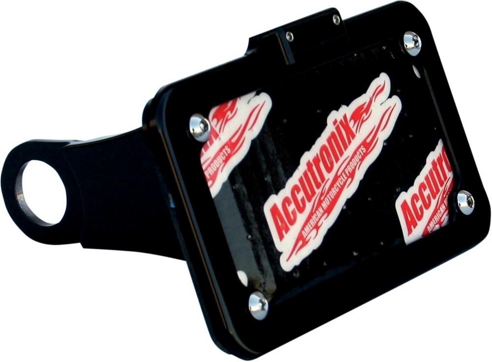 ACCUTRONIX アキュトロニクス ナンバープレートマウント ランプ付き ブラック 2004-13XL【MOUNT LP W/LIGHT 4-13XL B [2030-0684]】