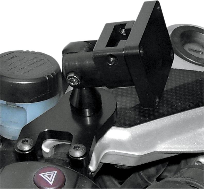 リーダーモーターサイクルアクセサリーズ 各種電子機器マウント・オプション クランプハンドルバーデラックスBMW ブラック 【CLAMP HBAR DELUX BMW BLK [0603-0332]】