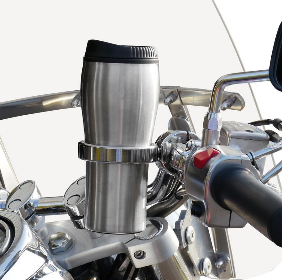 "LEADER MOTORCYCLE ACCESSORIES リーダーモーターサイクルアクセサリーズ その他グッズ ホルダードリンク マグ付き 1"" クローム 【HOLDER DRINK W/MUG 1""CHR [0603-0536]】"