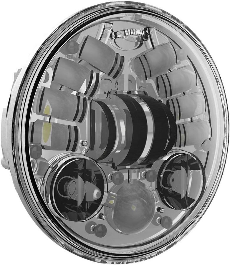 送料無料 ヘッドライト J.W. SPEAKER ジェーダブルスピーカー 0551731 ヘッドライト本体 日本限定 ライトリム ケース HEADLGHT CH5.75 オンラインショッピング LED 2001-1195 クローム 5.75 8690M
