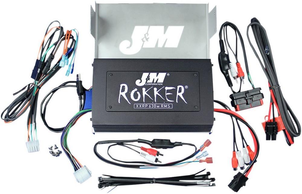J & M ジェーアンドエム アンプキット ROKKERモデル 630W4 クローム FLHX 2006-13 【AMP ROK 630W4CH 06-13FLHX】 Street Glide (EFI) - FLHX 2007 - 2013 Street Glide - FLHX 2006 Street Glide-Injected - FLHX-I 2006