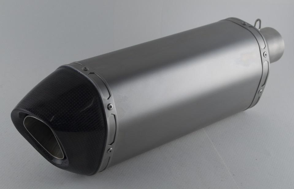 PR2 ピーアールツー バッフル・消音装置 AK チタンストレートエキゾーストB サイレンサー全長:30cm 取付部内径:50.8mm