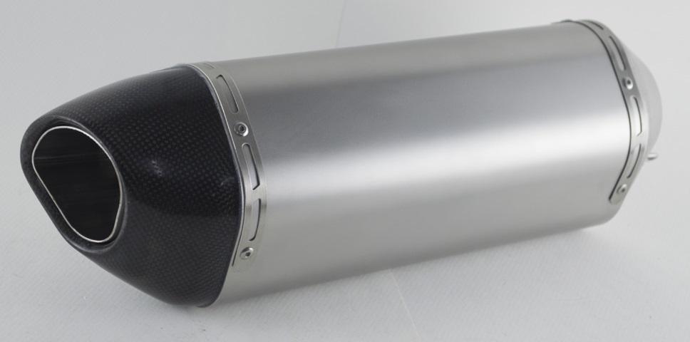 PR2 ピーアールツー バッフル・消音装置 R77 チタンエキゾーストA サイレンサー全長:25cm 取付部内径:63.5mm