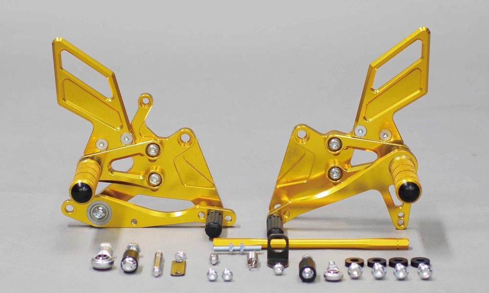 SANSEI RACING サンセイレーシング バックステップ MULTI STEP (マルチステップ) カラー:ケミカルゴールド CBR250RR/ABS[2BK-MC51/MH1MC31/MH1MC41](17)