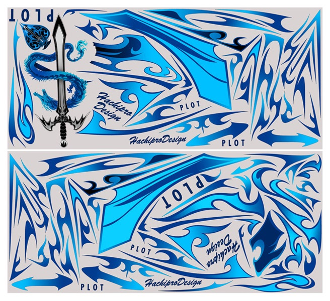 【ポイント5倍開催中!!】【クーポンが使える!】 PLOT プロト ステッカー・デカール デカールキット モンスター カラー:ブルー Ninja250 [ニンジャ250 ]