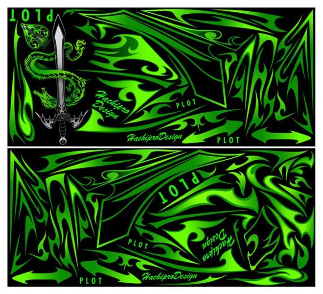 【ポイント5倍開催中!!】【クーポンが使える!】 PLOT プロト ステッカー・デカール デカールキット モンスター カラー:グリーン Ninja250 [ニンジャ250 ]