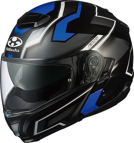 OGK KABUTO オージーケーカブト システムヘルメット IBUKI DARK [イブキ ダーク フラットブラックブルー] ヘルメット サイズ:XS