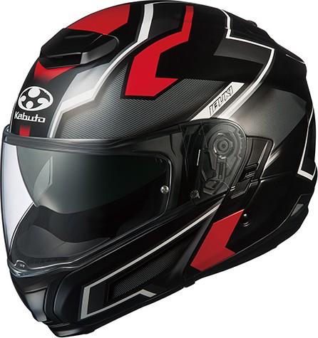 OGK KABUTO オージーケーカブト システムヘルメット IBUKI DARK [イブキ ダーク フラットブラックレッド] ヘルメット サイズ:L