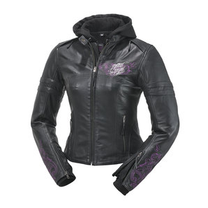 Highway 1 ハイウェイワン LETHAL ANGEL HW1 LEATHER L-JACKET,BLK/PINK レディース