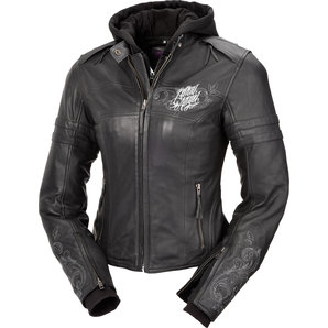 Highway 1 ハイウェイワン LETHAL ANGEL HW1 LEATHER L-JACKET,BLK/GREY レディース