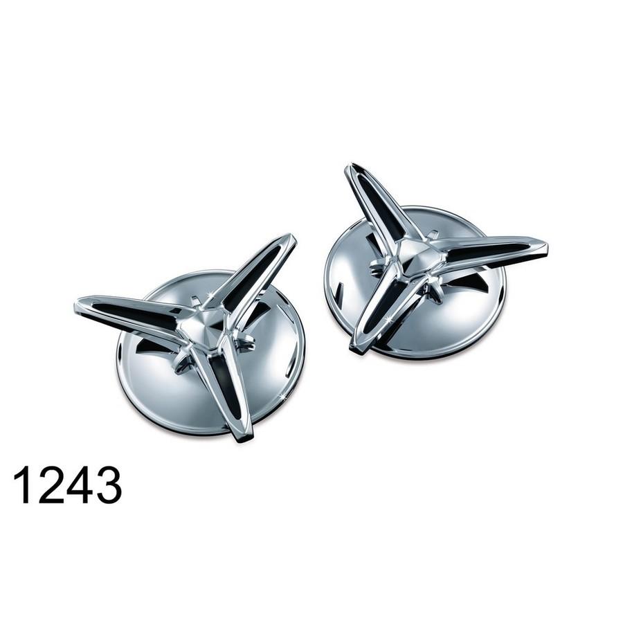 Kuryakyn クリアキン Knock-Off Center Caps[センターキャップ] 09-17 FLHTCUTG Tri Glide Ultra Classics 10-11 FLHXXX Street Glide Trikes