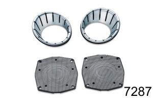 Kuryakyn クリアキン L.E.D. Speaker Bezels[LEDスピーカーベゼル] Trikes Street Glides Electra Glides 96-13