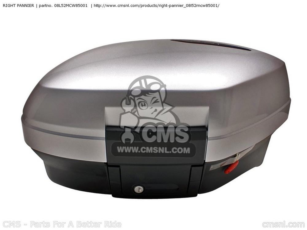 CMS シーエムエス パニアケース・サイドボックス (08L52-MCW-85101) RIGHT PANNIER