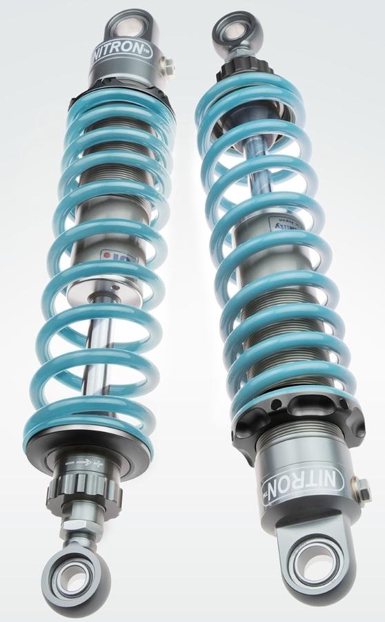 NITRON ナイトロン リアサスペンションツインショック TWIN R1シリーズ スプリングカラー:ターコイズ ベースカラー:ブラックツイン STREET CUP 17-