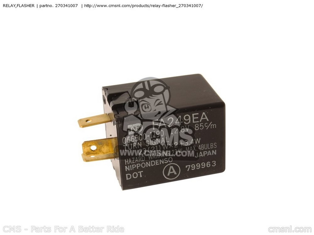 CMS シーエムエス その他灯火類 RELAY,FLASHER ZX750G3 1986 EUROPE (UK/GK/GR/SD/ST/WG)