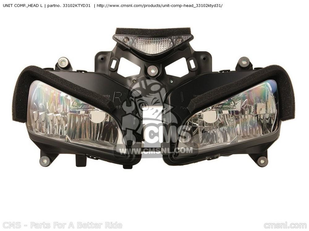 CMS シーエムエス ヘッドライト本体・ライトリム/ケース (33102-KTY-D32) UNIT COMP.,HEAD L