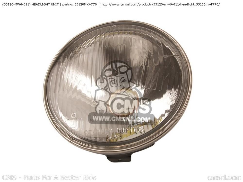 CMS シーエムエス ヘッドライト本体・ライトリム/ケース (33120MW6611) HEADLIGHT UNIT