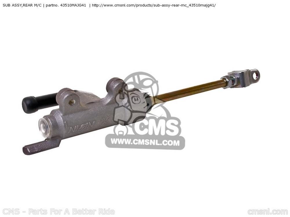 CMS シーエムエス マスターシリンダー SUB ASSY,REAR M/C ST1100A 2001 (1) USA ST1100A PANEUROPEAN 2000 (Y) FRANCE / ABS