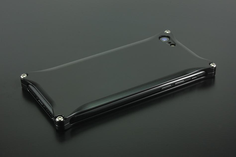 GILD design ギルドデザイン スマートフォンケース ソリッド for iPhone8/7 カラー:ポリッシュブラック iPhone8/7