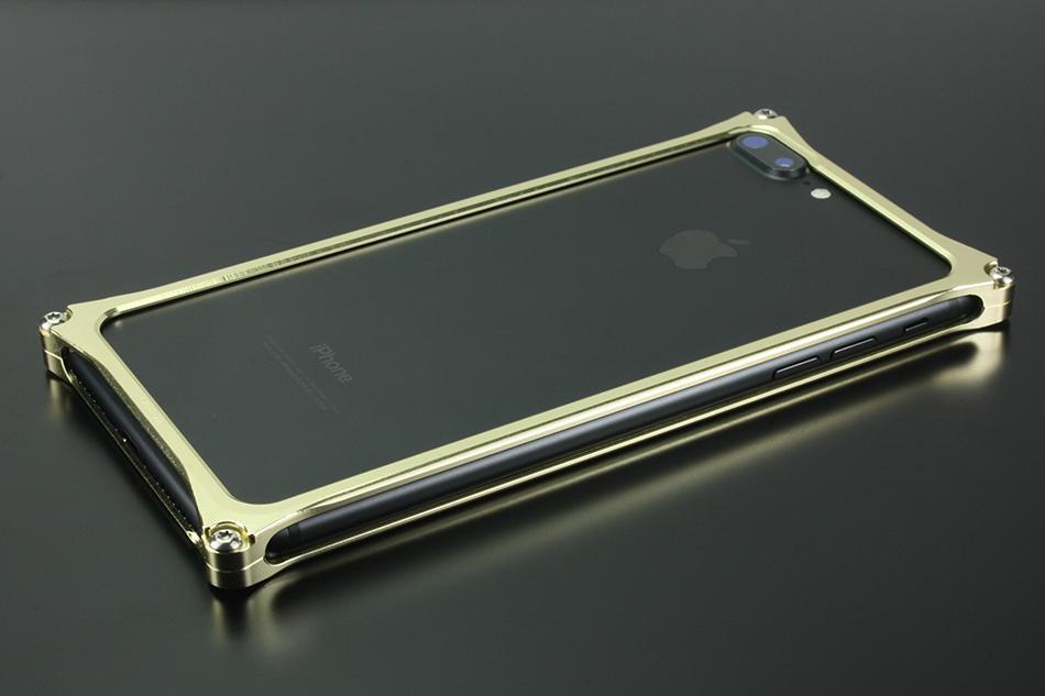 GILD design ギルドデザイン スマートフォンケース ソリッドバンパー for iPhone8Plus/7Plus カラー:シャンパンゴールド iPhone8Plus/7Plus
