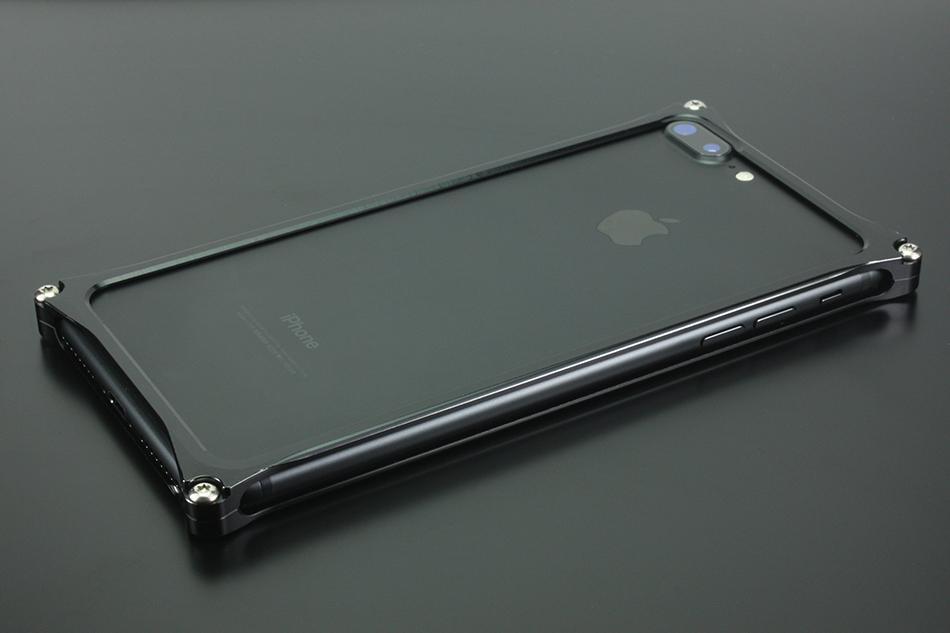GILD design ギルドデザイン スマートフォンケース ソリッドバンパー for iPhone8Plus/7Plus カラー:ポリッシュブラック iPhone8Plus/7Plus