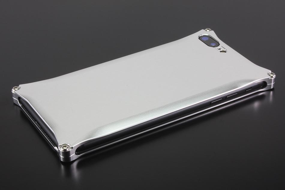 GILD design ギルドデザイン スマートフォンケース ソリッド for iPhone8Plus/7Plus カラー:シルバー iPhone8Plus/7Plus